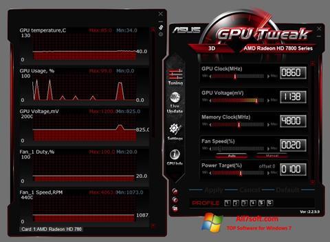 સ્ક્રીનશૉટ ASUS GPU Tweak Windows 7