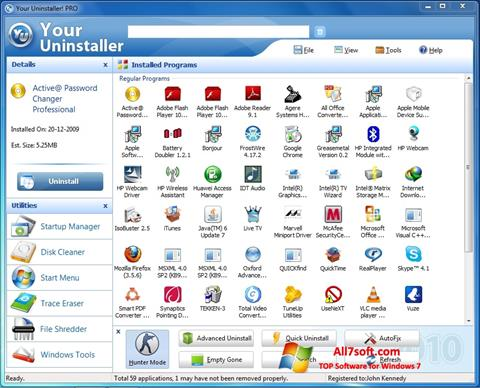 સ્ક્રીનશૉટ Your Uninstaller Windows 7