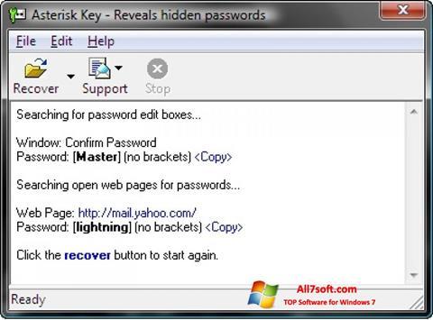 સ્ક્રીનશૉટ Asterisk Key Windows 7