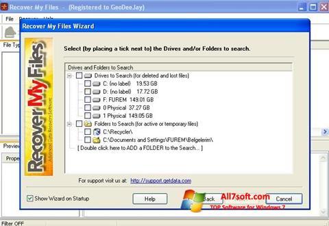 સ્ક્રીનશૉટ Recover My Files Windows 7