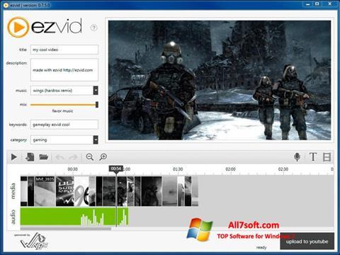 સ્ક્રીનશૉટ Ezvid Windows 7