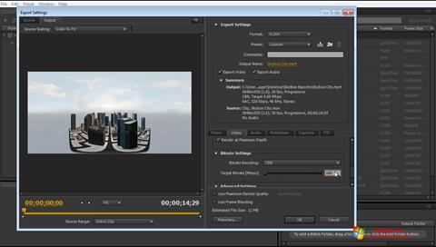 સ્ક્રીનશૉટ Adobe Media Encoder Windows 7