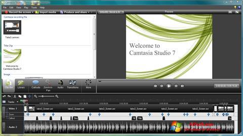 સ્ક્રીનશૉટ Camtasia Studio Windows 7