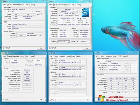 સ્ક્રીનશૉટ CPU-Z Windows 7