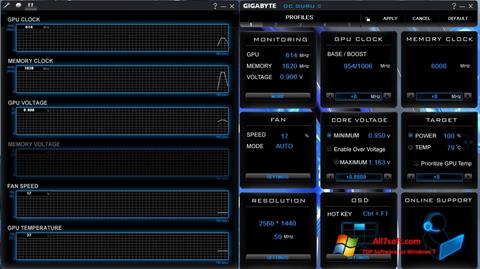 સ્ક્રીનશૉટ GIGABYTE OC Guru Windows 7