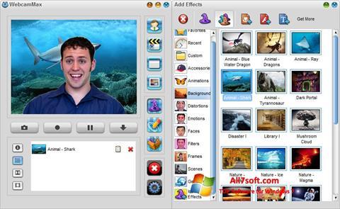સ્ક્રીનશૉટ WebcamMax Windows 7
