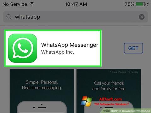 સ્ક્રીનશૉટ WhatsApp Windows 7