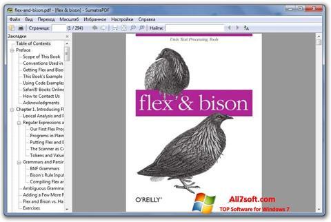 સ્ક્રીનશૉટ Sumatra PDF Windows 7