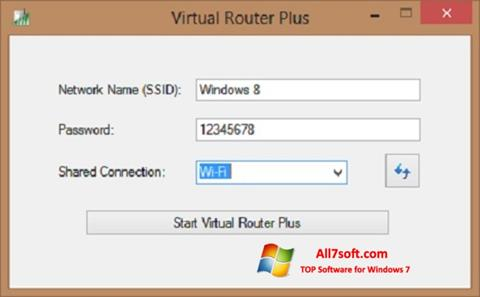 સ્ક્રીનશૉટ Virtual Router Plus Windows 7