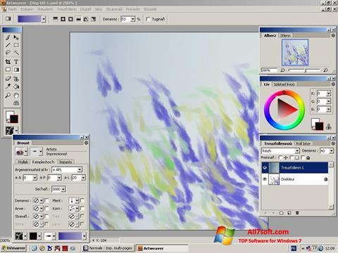 સ્ક્રીનશૉટ Artweaver Windows 7