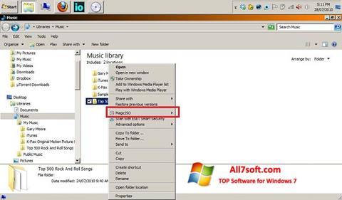 સ્ક્રીનશૉટ MagicISO Windows 7