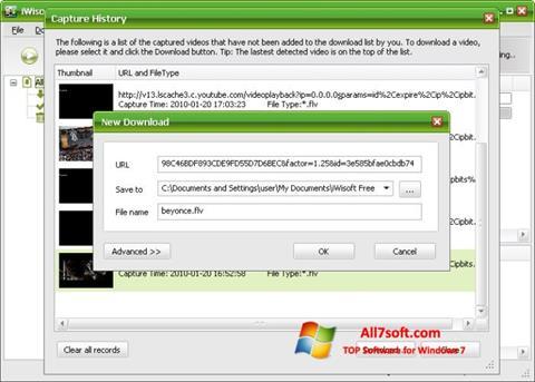 સ્ક્રીનશૉટ Free Video Catcher Windows 7