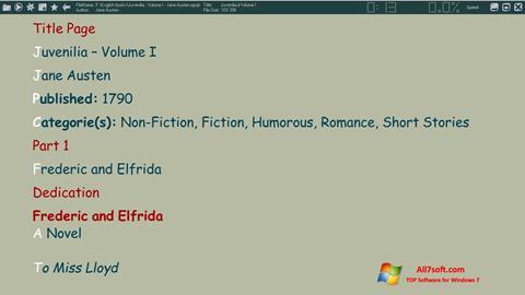 સ્ક્રીનશૉટ ICE Book Reader Windows 7