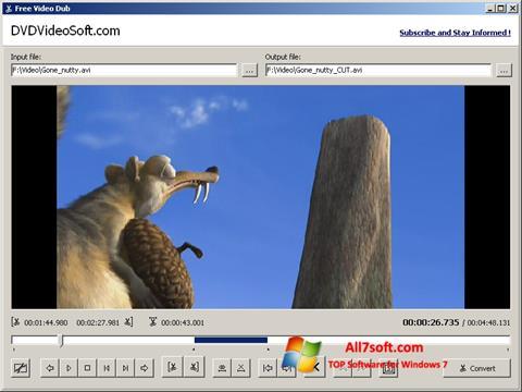 સ્ક્રીનશૉટ Free Video Dub Windows 7