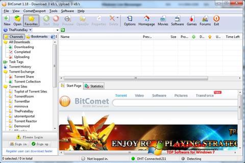સ્ક્રીનશૉટ BitComet Windows 7
