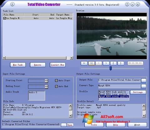 સ્ક્રીનશૉટ Total Video Converter Windows 7