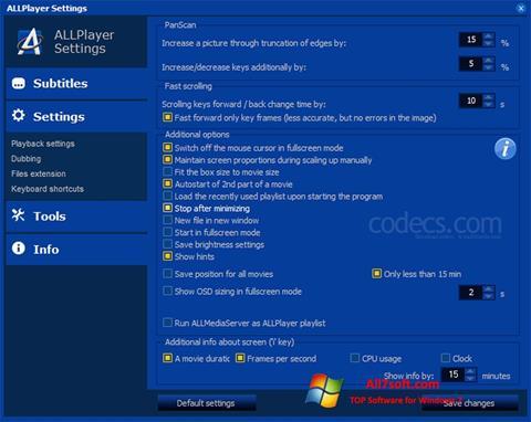 સ્ક્રીનશૉટ ALLPlayer Windows 7