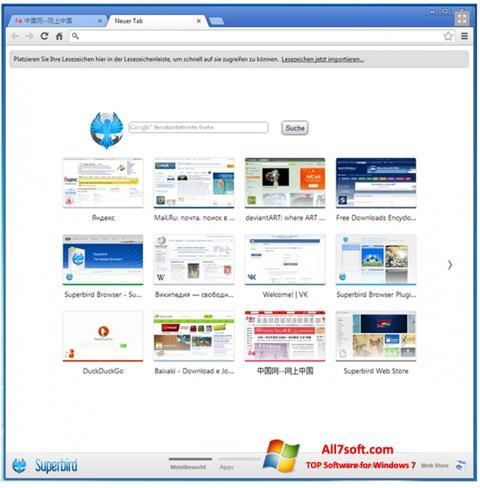 સ્ક્રીનશૉટ Superbird Windows 7