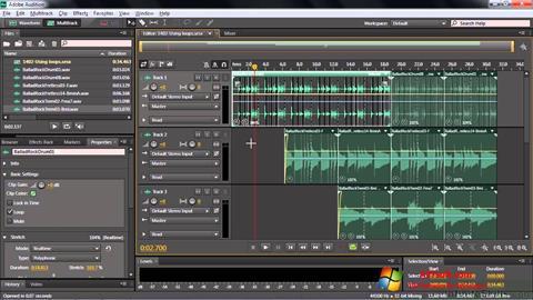 સ્ક્રીનશૉટ Adobe Audition CC Windows 7