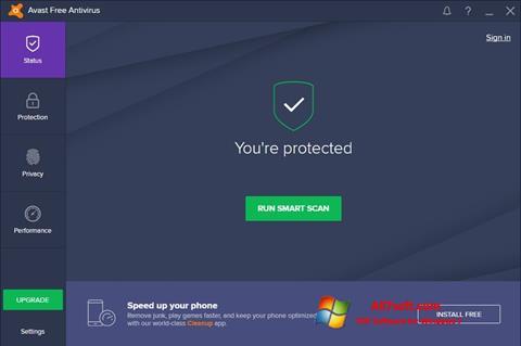 સ્ક્રીનશૉટ Avast Free Antivirus Windows 7