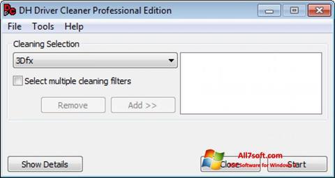 સ્ક્રીનશૉટ Driver Cleaner Windows 7