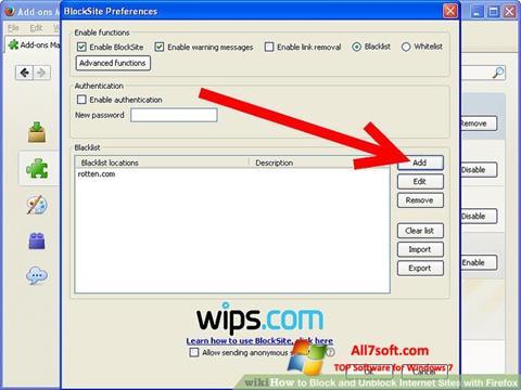 સ્ક્રીનશૉટ uBlock Windows 7