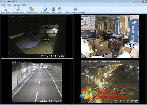 સ્ક્રીનશૉટ IP Camera Viewer Windows 7