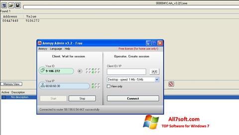 સ્ક્રીનશૉટ Ammyy Admin Windows 7