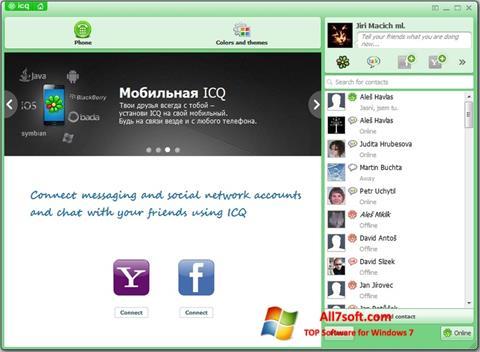 સ્ક્રીનશૉટ ICQ Windows 7