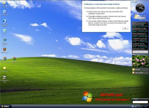 સ્ક્રીનશૉટ Google Desktop Windows 7