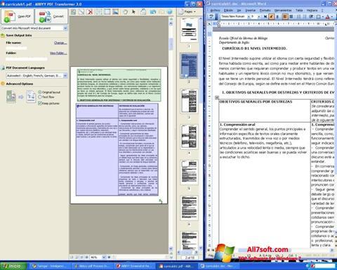 સ્ક્રીનશૉટ ABBYY PDF Transformer Windows 7