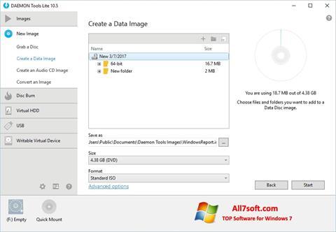 સ્ક્રીનશૉટ DAEMON Tools Lite Windows 7