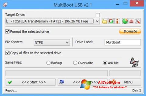 સ્ક્રીનશૉટ Multi Boot USB Windows 7