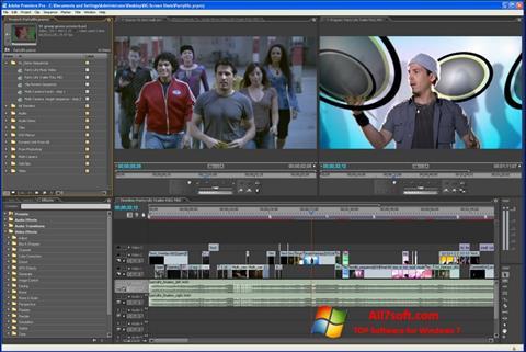 સ્ક્રીનશૉટ Adobe Premiere Pro Windows 7