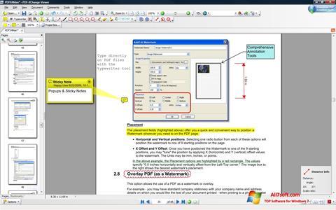સ્ક્રીનશૉટ PDF-XChange Viewer Windows 7