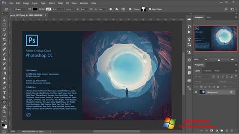 સ્ક્રીનશૉટ Adobe Photoshop Windows 7