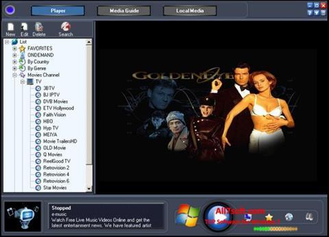 સ્ક્રીનશૉટ Online TV Live Windows 7