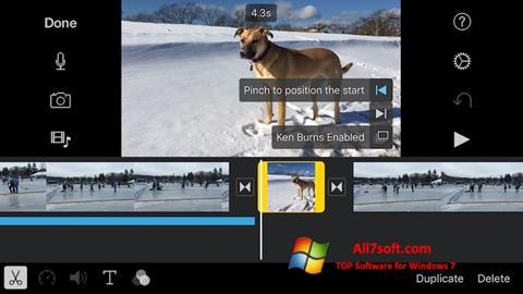 સ્ક્રીનશૉટ iMovie Windows 7