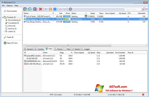 સ્ક્રીનશૉટ BitTorrent Windows 7