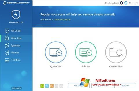 સ્ક્રીનશૉટ 360 Total Security Windows 7