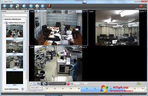 સ્ક્રીનશૉટ Ivideon Server Windows 7