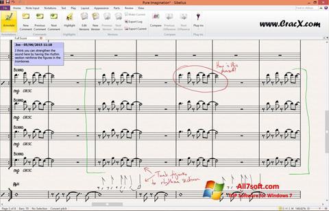 સ્ક્રીનશૉટ Sibelius Windows 7