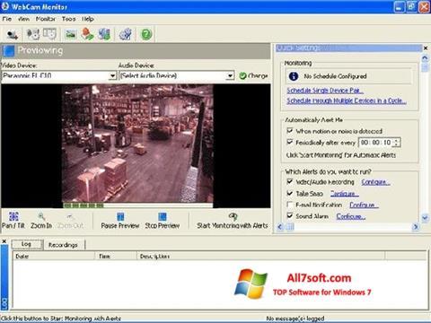 સ્ક્રીનશૉટ WebCam Monitor Windows 7
