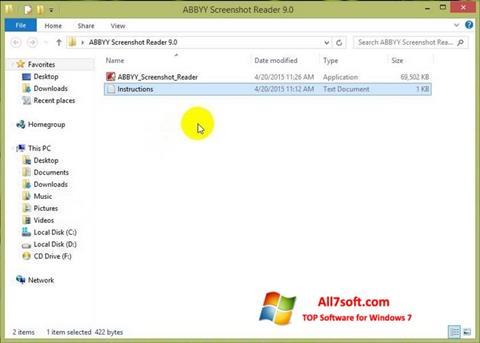 સ્ક્રીનશૉટ ABBYY Screenshot Reader Windows 7