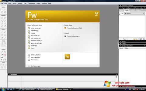 સ્ક્રીનશૉટ Adobe Fireworks Windows 7