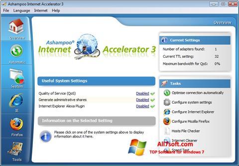 સ્ક્રીનશૉટ Ashampoo Internet Accelerator Windows 7