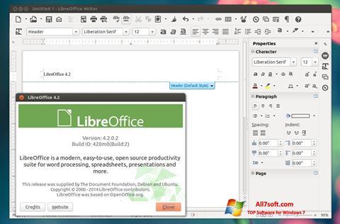 સ્ક્રીનશૉટ LibreOffice Windows 7