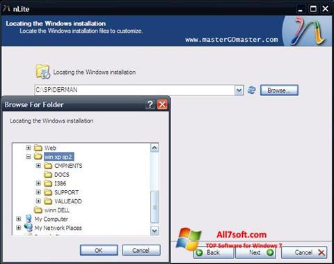 સ્ક્રીનશૉટ nLite Windows 7