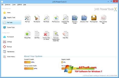સ્ક્રીનશૉટ jv16 PowerTools Windows 7