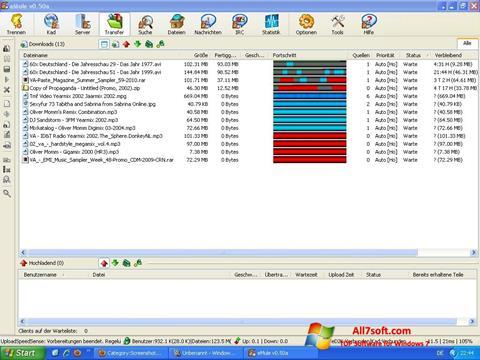 સ્ક્રીનશૉટ eMule Windows 7